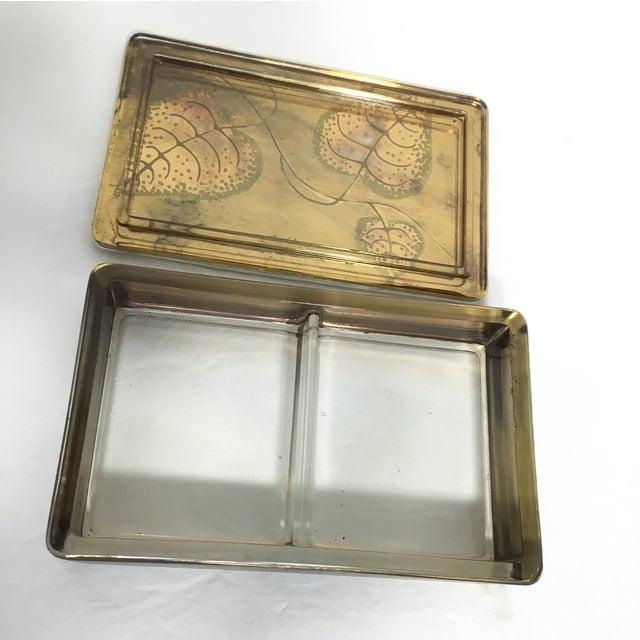 Hand-Painted Leaf Motif Trinket Box - Image 5 of 5
