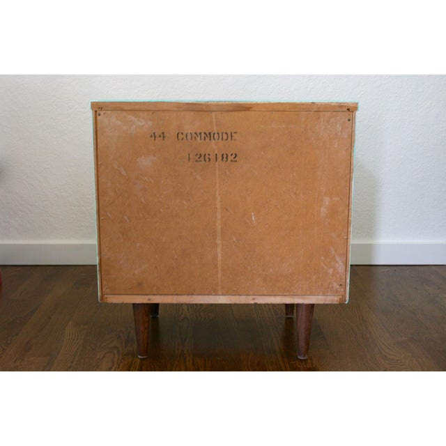1960s Danish Modern Dixie Two-Tone Aqua Nightstand For Sale In Seattle - Image 6 of 8