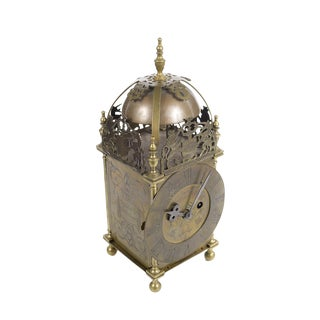 18th Century English Brass Lantern Clock For Sale
