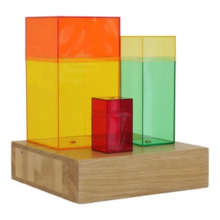 Contemporary Multi-Color Abstract Tabletop Sculpture For Sale
