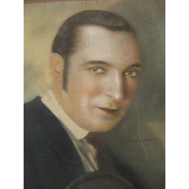 Authentic hand colored photograph of Harry Richman by Strand,NYC. American Period: Circa 1920-1929 large un-framed...