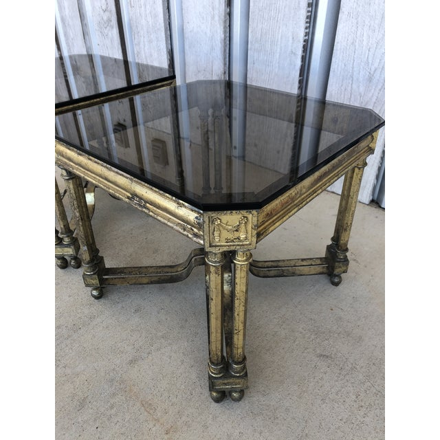 1960s Midcentury French Silver Leaf Side Tables For Sale - Image 5 of 6