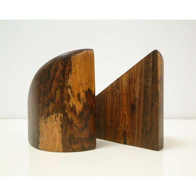 Don Shoemaker 1960s Don Shoemaker Cocobolo Wood Bookends - a Pair For Sale - Image 4 of 10