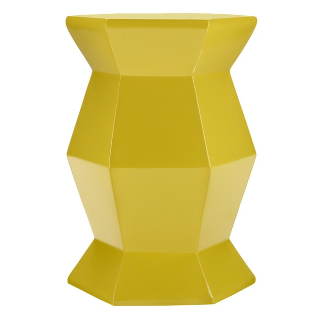 Selamat Designs Gemma Yellow Lacquer Spot Table - Image 3 of 3