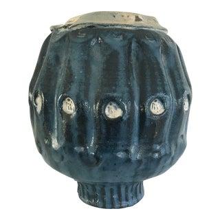 Blue Handmade Pottery Vase