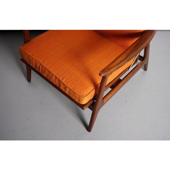 Danish Modern Walnut Lounge Chair & Ottoman For Sale - Image 5 of 6
