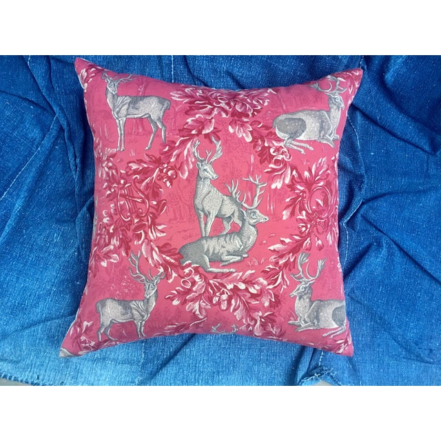 Vintage F. Schumacher Woburn Meadow Deer Pillows - A Pair - Image 3 of 10
