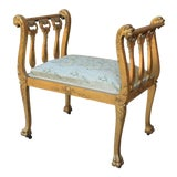 Image of Antique French Giltwood Bench Vanity Stool For Sale