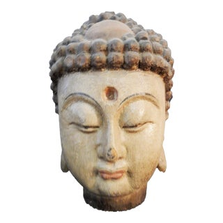 LG Hand carved Buddha Head For Sale