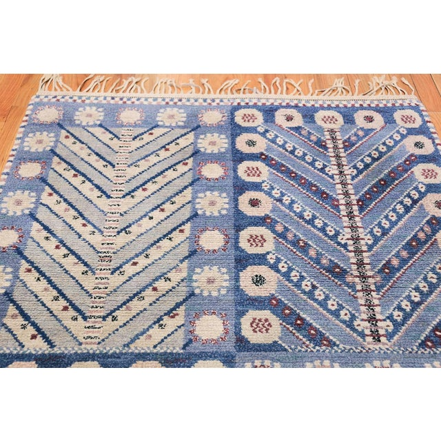 Vintage Scandinavian Marta Maas Marianne Richter Pile Rug - 4′8″ × 7′ For Sale In New York - Image 6 of 11