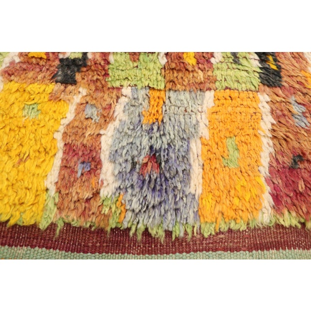 Berber Tribes of Morocco Vintage Berber Ait Bou Ichaouen Moroccan Rug - 5'4 X 13'4 For Sale - Image 4 of 10