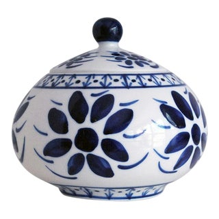 Vintage Brazilian Blue & White Italian Porcelain Bowl For Sale