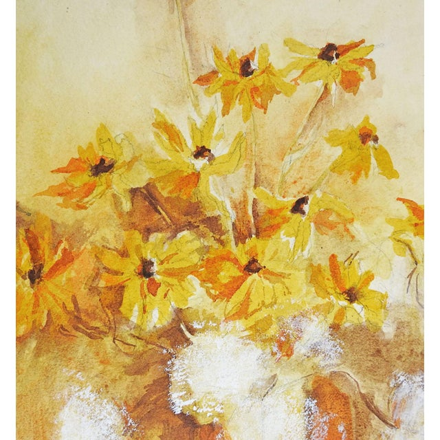 Yellow Daisies Still Life Watercolor Painting - Image 2 of 3