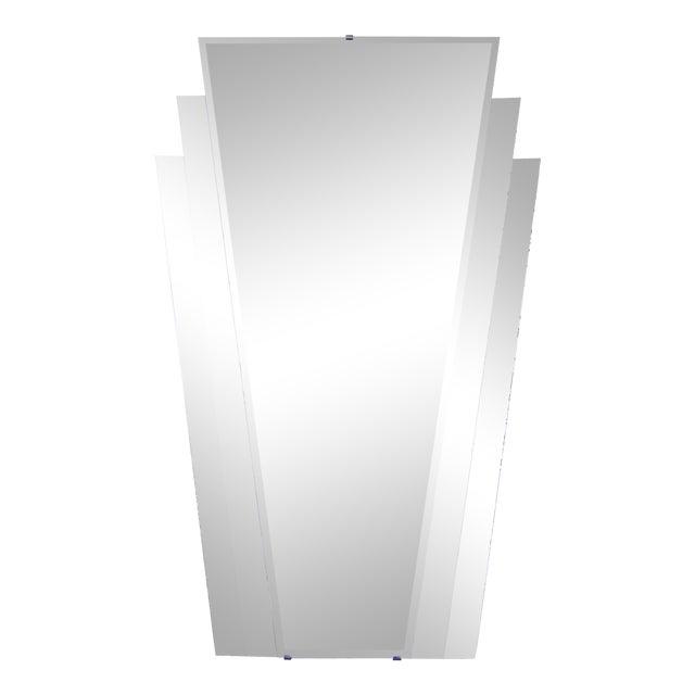 Mid Century Modern Art Deco Fan Mirror For Sale