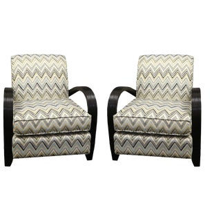 Multi Color Fabric Chair - A Pair For Sale