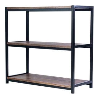 Modern Walnut and Steel Bookshelf