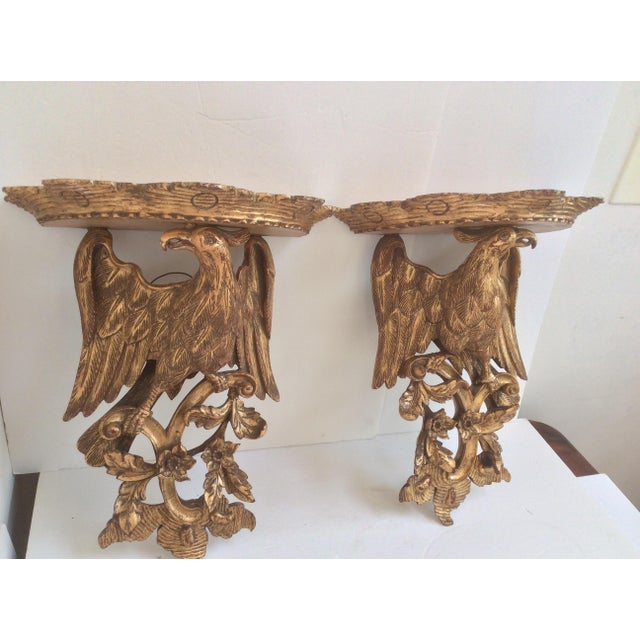 Chippendale Style Wood Wall Sconces - a Pair For Sale - Image 4 of 8