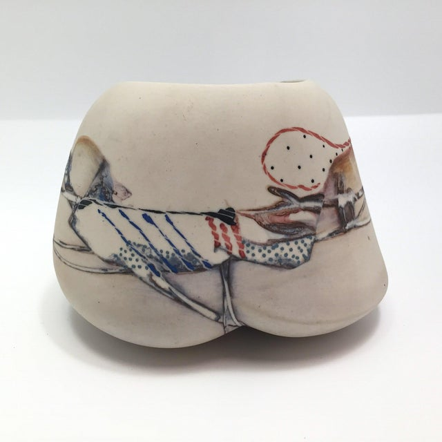 Late 20th Century Fine Art Contemporary Ceramic Vessel - Image 13 of 13