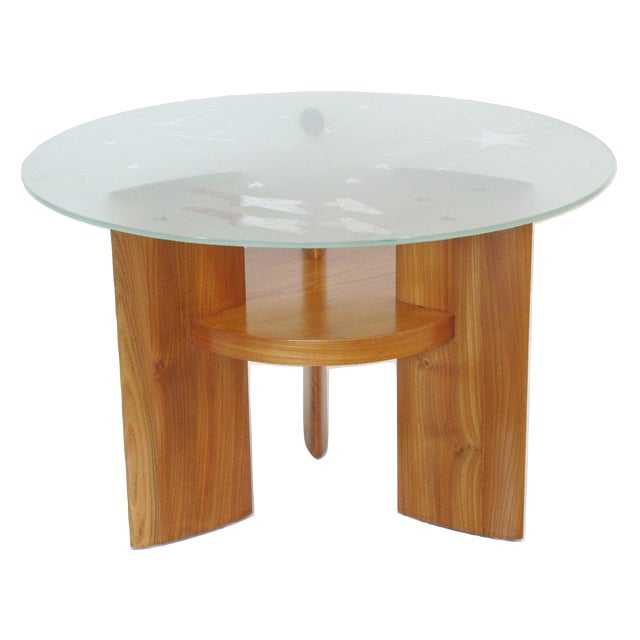 Art Deco Coffee Table Saint Gobain Glass-Top Aviation Decor For Sale - Image 12 of 12