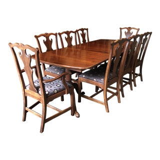 Modern Lexington-Bob Timberlake Solid Cherry Double Pedestal Dining Set- 9 Pieces For Sale