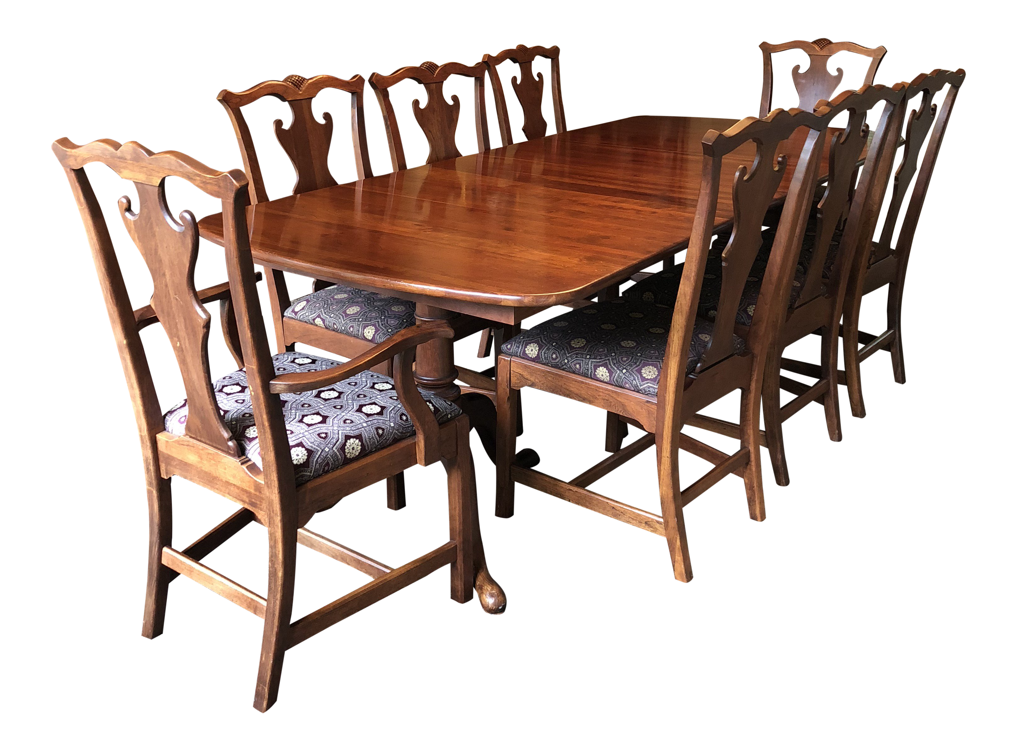 Modern Lexington Bob Timberlake Solid Cherry Double Pedestal Dining Set  9  Pieces