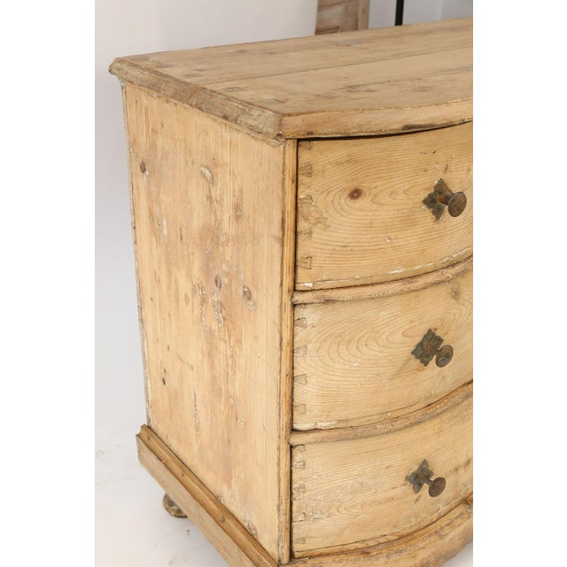 Italian Serpentine-Front Pine Commode For Sale In Houston - Image 6 of 13