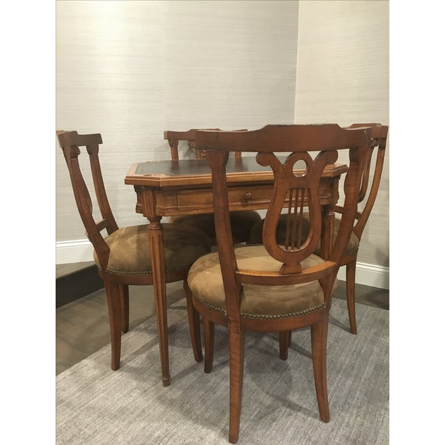 Antique Game Table and Chairs - Set of 5 For Sale - Image 5 of 8