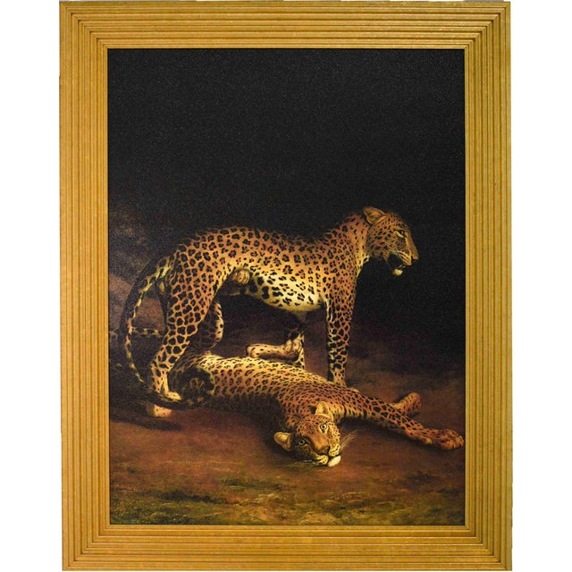 Two Leopards Lying in the Exeter Exchange by Jacques-Laurent Agasse Reproduction 47h X 37winches For Sale - Image 13 of 13
