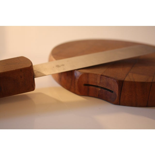 Mid-Century Dansk Cheese Board & Knife For Sale In San Francisco - Image 6 of 7