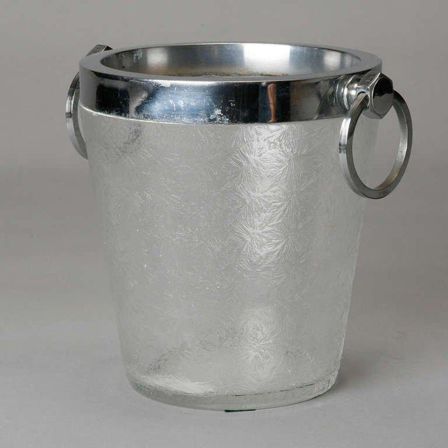 1930s Art Deco Heavy Crystal Ice Bucket For Sale - Image 5 of 6
