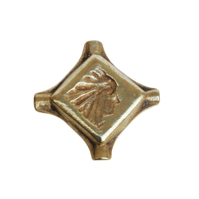 American Native American Brass Ashtray For Sale - Image 3 of 4