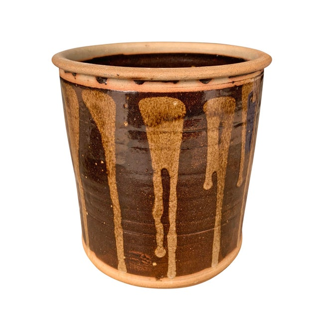 Vintage Studio Pottery Lidded Jar For Sale In Chicago - Image 6 of 13