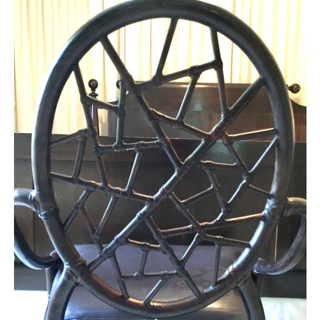 Contemporary Maguire Crackled Ice Chairs - Set of 4 For Sale - Image 3 of 8