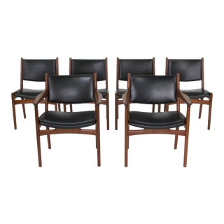 1960s Vintage Hans J Wegner for Johannes Hansen Original Jh525 and Jh526 Chairs- Set of 6 For Sale