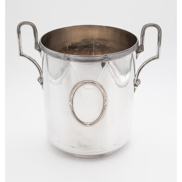 Mid 20th Century Vintage French Silver Plate Neoclassical Champagne Bucket For Sale - Image 12 of 12