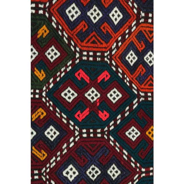 Vintage Turkish Kilim Rug For Sale - Image 11 of 13
