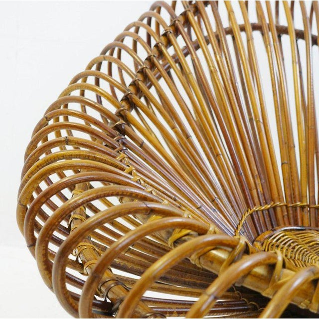 Sculptural Rattan Lounge Chair by Franco Albini For Sale - Image 6 of 8