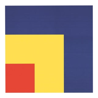 "Ellsworth Kelly Red, Yellow, Blue 33.5"" X 25.5"" Poster Minimalism Blue, Yellow, Red, White For Sale"
