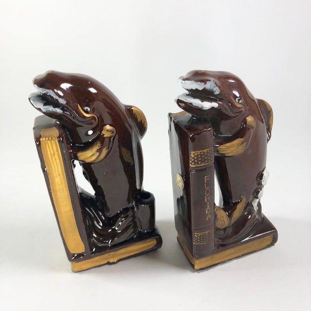 Japanese Mid-Century Whale Bookends - a Pair For Sale - Image 4 of 4