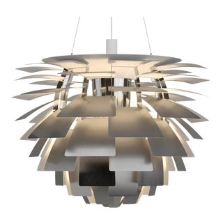 Monumental Poul Henningsen Steel PH Artichoke Chandelier for Louis Poulsen For Sale