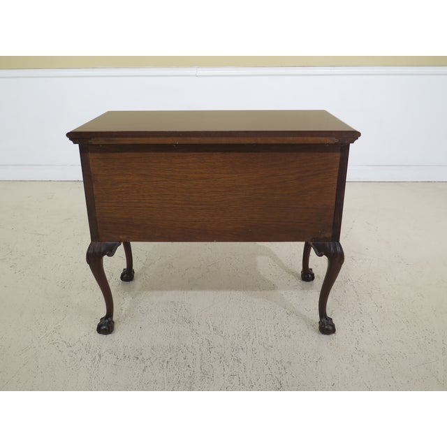 1980s Chippendale Kittinger Biggs Ball & Claw Mahogany Lowboy For Sale - Image 10 of 12