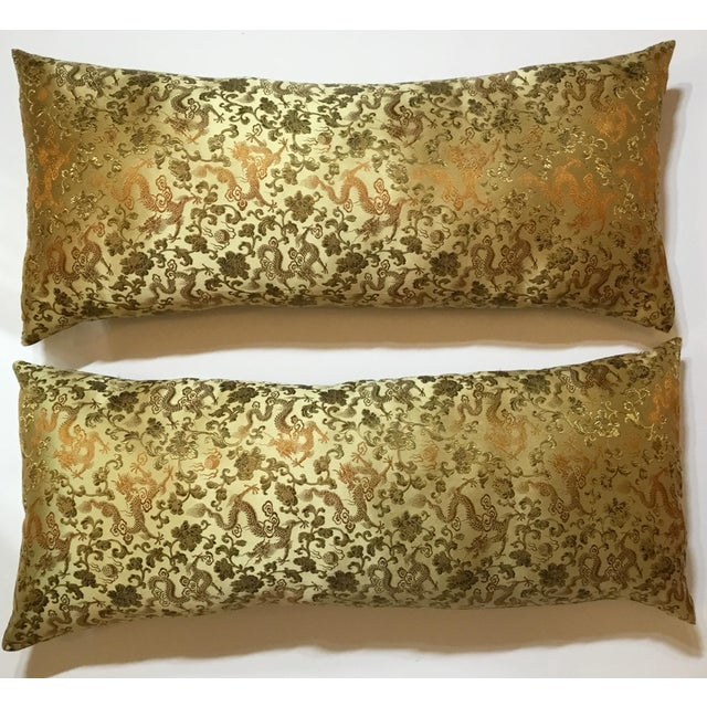 Chinese Silk Pillows - A Pair - Image 4 of 12