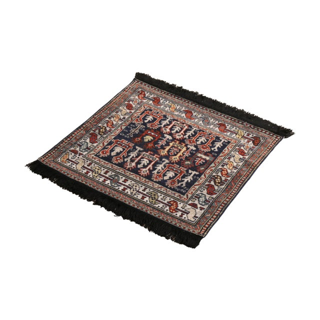 Tribal Rug & Kilim's Classic Style Rug in Blue and Red Geometric Tribal Pattern For Sale - Image 3 of 5