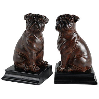 Bull Dog Bookends - A Pair
