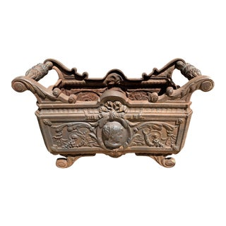 19th Century French Cast Iron Planter For Sale