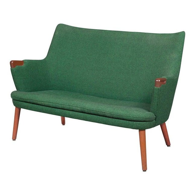 Mid 20th Century Hans Wegner Ap 20 Sofa, Original Fabric, Denmark, 1950s-1960s For Sale - Image 5 of 6