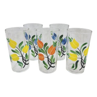 Vintage Set Handpainted Glasses