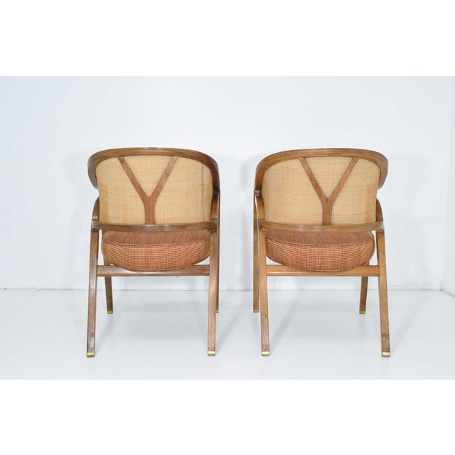 Dunbar Cane Back Lounge Chairs by Edward Wormley - a Pair For Sale In Dallas - Image 6 of 11