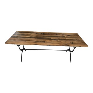 """Wisteria Reclaimed Wood & Iron """"Camp Table"""""""