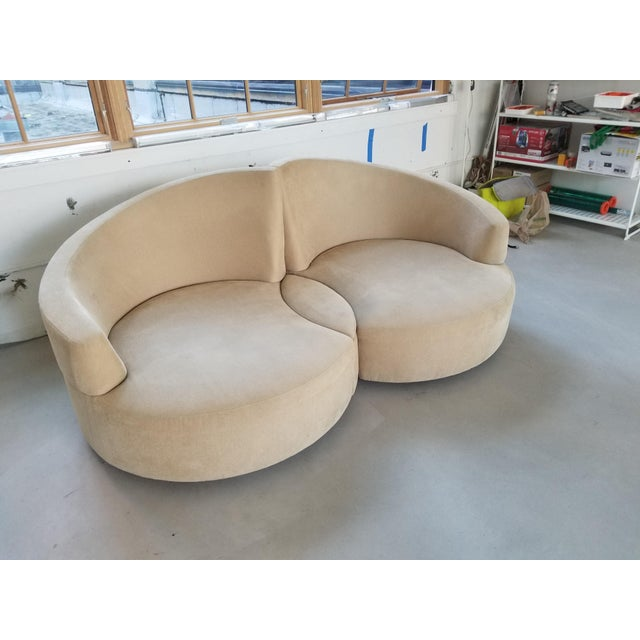 Vladimir Kagan 2 Piece Swivel Loveseat - Image 5 of 6